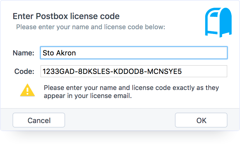 How to Register Your License Key – Postbox Support