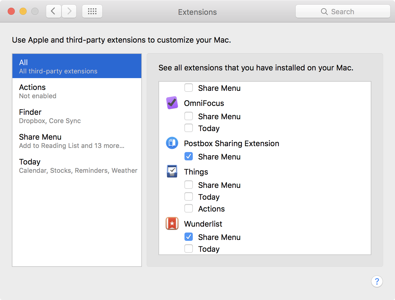 Sharing on macOS – Postbox Support
