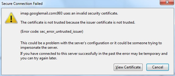 Invalid Security Certificate Error when using AVAST