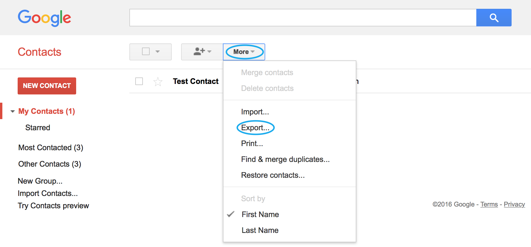 How to Import Google Contacts – Postbox Support